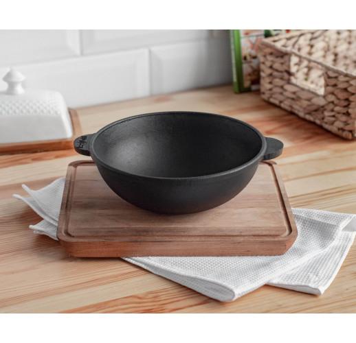 HoReCa, Сковорода чугунная WOK с подставкой 180х63 мм