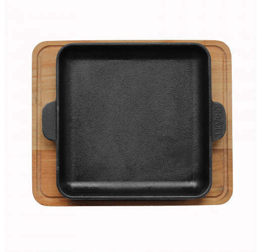 HoReCa, Сковорода чугунная квадратная с подставкой 180х180х25 мм