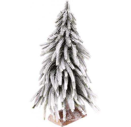 """Декоративная елка """"Снежная"""" 20х20х34см, на деревянной подставке BD-122-130"""