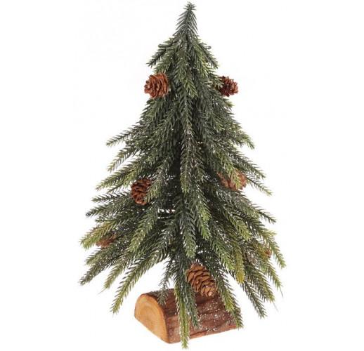 """Декоративная елка """"Золотистый блеск"""" 27см, на деревянной подставке BD-122-150"""