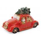 """Декор новогодний """"Санта в машине"""" 23.5х10х11.5см фарфор с LED-подсветкой BD-197-701"""