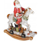Декор новогодний «Санта на лошади» 31х14х37см, керамика BD-197-717