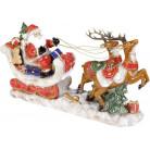 Декор новогодний «Экипаж Санты» 44.5х12х26см, керамика BD-197-718