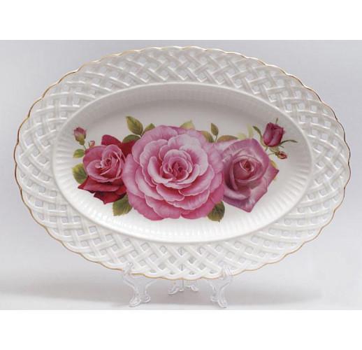 """Блюдо """"Букет роз"""" овальное 30см BD-222-158"""