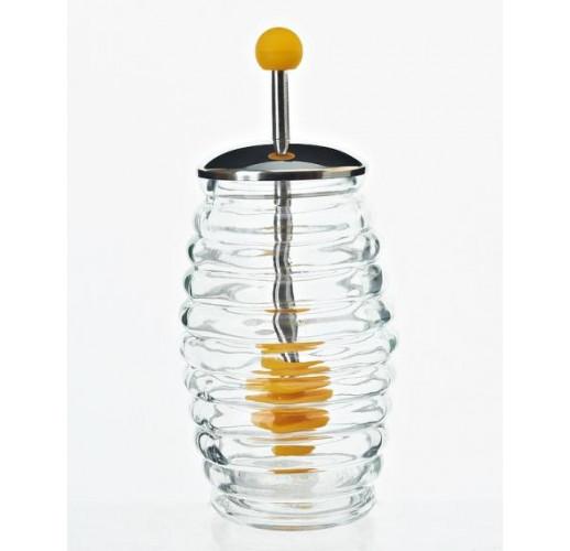 Банка для меда Home Kitchen 250мл с металлической крышкой и ложкой для меда BD-407-007