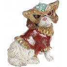 """Декоративная статуэтка """"Собачка на маскараде"""" 14.5х12х17.5см, в красном костюмчике BD-419-159-PB"""