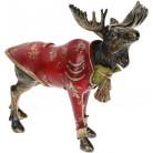 """Декоративная статуэтка """"Лось в красном пиджаке"""" 30х15.5х27см BD-419-183"""