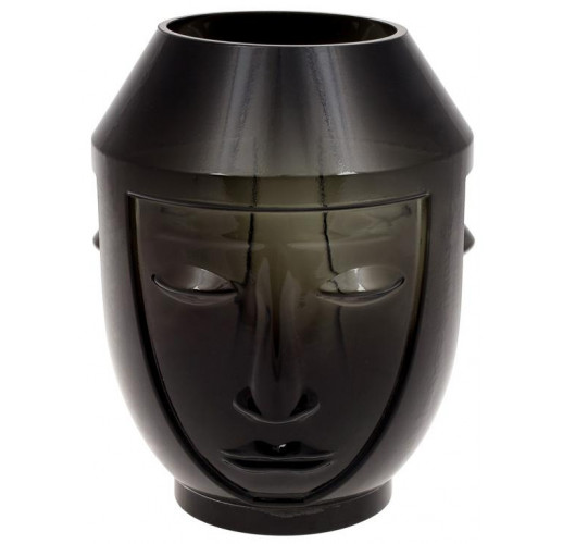 Ваза Ariadne «Этно» 22.5см, черное стекло BD-420-114