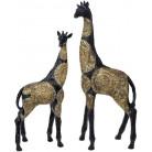 """Декоративная фигура """"Жираф"""" 22х10.5х51см полистоун, черный с золотом"""