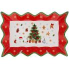 """Блюдо прямоугольное """"С Рождеством"""" 35.5см, фарфоровое"""