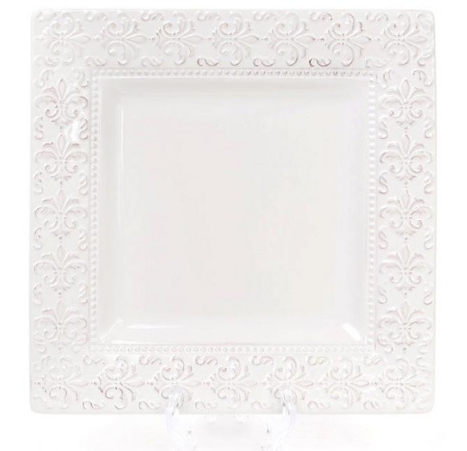 Блюдо керамическое Leeds Королевская Лилия 23.1х23.1х2.2см, квадратное BD-545-214