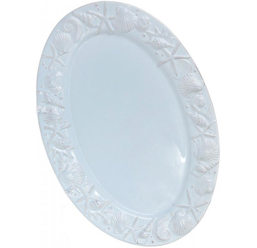 """Блюдо керамическое """"Морской Бриз"""" овал, 39.7х27.1х2.5см, голубое BD-545-355"""
