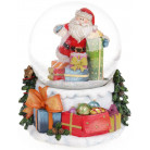 """Декоративный водяной шар """"Санта с подарками"""" 14.5см, музыкальный BD-559-271"""