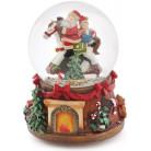 """Декоративный водяной шар """"Санта на Лошади"""" 15.5см, музыкальный"""