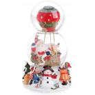 """Декоративный водяной шар """"Санта воздушном шаре"""" 20.5см, музыкальный BD-559-385"""