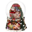 """Декоративный водяной шар """"Санта с Детками"""" 14.5см, музыкальный BD-559-455"""