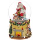 """Декоративный водяной шар """"Санта с Медвежатами"""" 15.5см BD-559-513"""