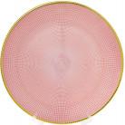Блюдо сервировочное Pink Web декоративное Ø33см, подставная тарелка, стекло BD-587-008