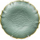 Блюдо сервировочное Emerald Paper декоративное Ø33см, подставная тарелка, стекло BD-587-029