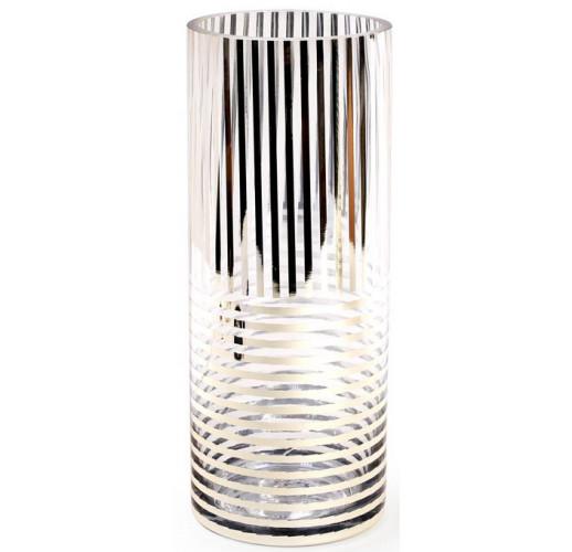 Ваза для цветов Ancient Glass настольная Ø12х30см, стекло с позолотой BD-591-212