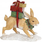 "Декоративная статуэтка ""Рыжий Заяц с подарками"" 19.5х7.5х18см, полистоун BD-707-772"