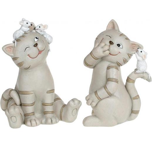"Декоративная статуэтка ""Кошки-Мышки"" 6.5х6х9см полистоун"