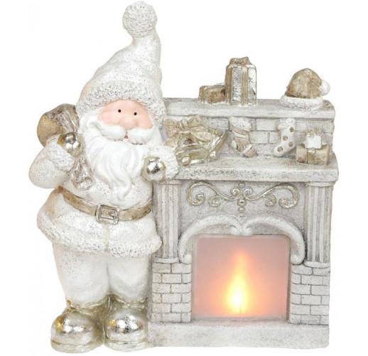 Декоративная фигура «Санта у камина» с LED-подсветкой 37.5х16х43.5см BD-711-348