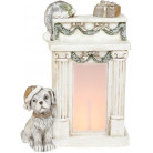 Декоративная фигура «Пёсик у камина» с LED-подсветкой 29.5х14.5х39см BD-711-349