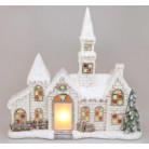 Декоративный «Старый замок» с LED-подсветкой 50.5х16х43.5см, керамика BD-711-398