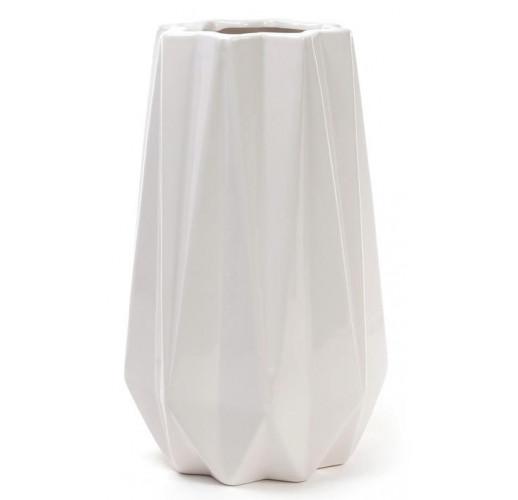 Ваза керамическая Stone Flower 25см, белая