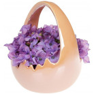 """Декоративное кашпо (конфетница) """"Яйцо"""" 14х13.5х17см, персиковый перламутр BD-733-304"""