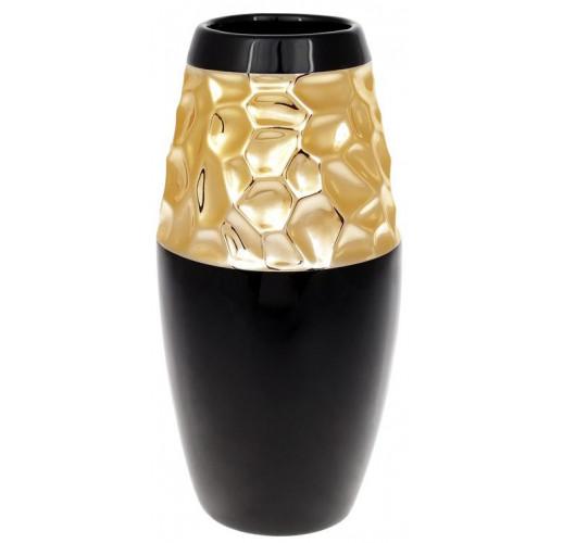 Ваза керамическая Vjosa 26см, черный с золотом BD-733-337