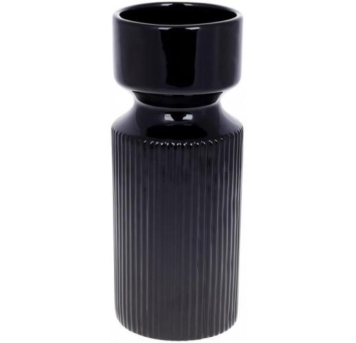 "Ваза керамическая ""Stone Flower"" 10.5х10.5х25.5см, черный"