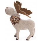 """Декоративная игрушка """"Северный Олень"""" 38см с использованием натуральных материалов BD-743-311"""