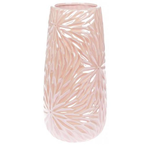 Ваза керамическая Aster 29см, розовый перламутровый BD-795-390