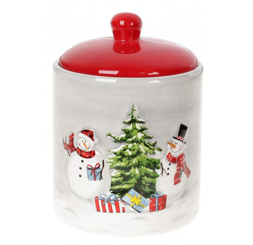 Банка керамическая «Snowman Party» 550мл BD-811-002