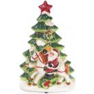 """Декоративная музыкальная статуэтка """"Санта у елки"""" 30см с LED-подсветкой BD-827-417"""