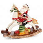 "Декоративная статуэтка ""Санта на лошадке-качалке"" 23.3х7х20.5см BD-827-420"