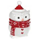 Банка керамическая «Совушкин Уют» 1100мл, красный шарфик BD-834-301