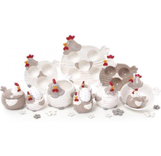 """Блюдо """"Курочка"""" подставное для 3-х яиц (пасхальное блюдо) Ø15см BD-834-741"""