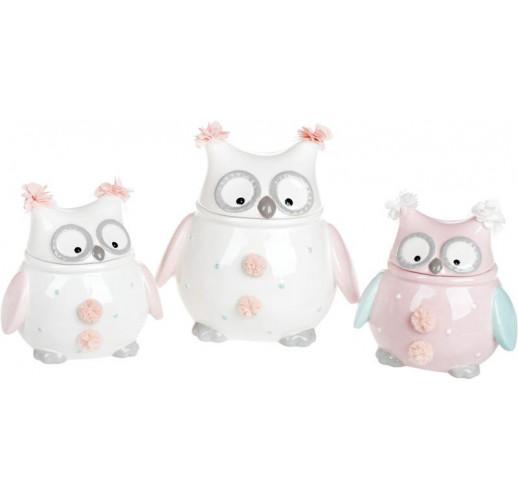 """Банка """"Owl Family"""" 400мл с керамической крышкой BD-834-840"""