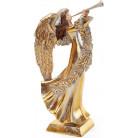 "Декоративная фигура ""Ангел играет на трубе"" 11.7х16.1х31.4см BD-837-207"