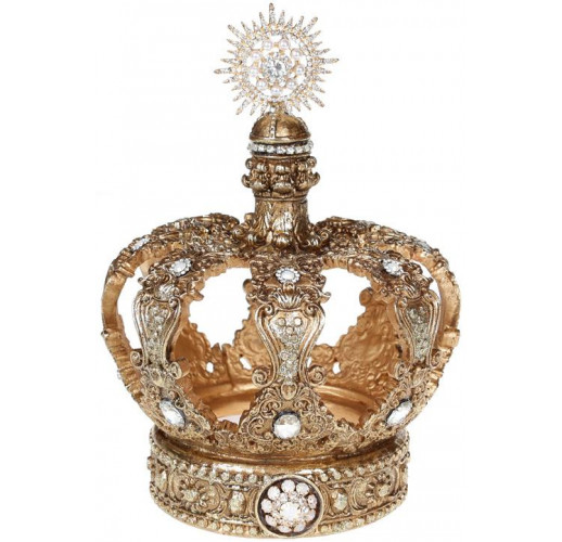 """Декор """"Золотая Корона"""" 14.7х14.7х21.1см полистоун, с кристаллами BD-838-307"""
