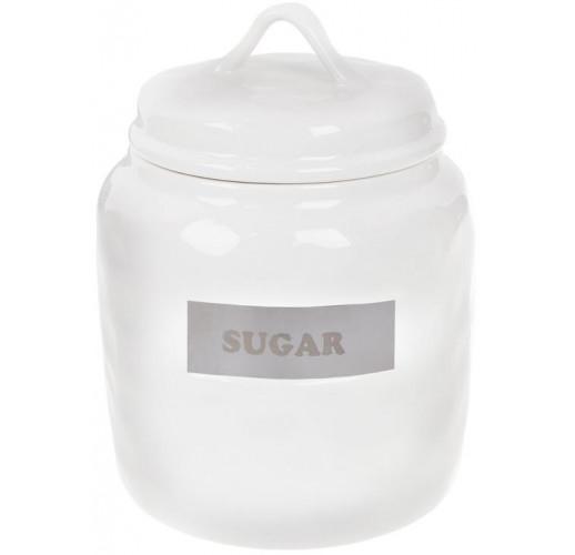 "Банка фарфоровая Necollie ""Sugar"" 1500мл, белая"