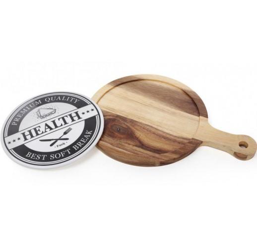 Доска деревянная сервировочная Naturel 38х27см (сырная доска) BD-982-313
