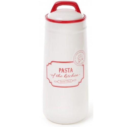 Банка керамическая Red&Blue PASTA 1400мл, красная для хранения спагетти, пасты BD-DM250-S