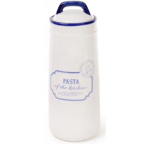 Банка керамическая Red&Blue PASTA 1400мл, синяя для хранения спагетти, пасты BD-DM251-S