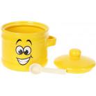 """Банка керамическая """"Funny Smile"""" 450мл с деревянной ложкой BD-DM774-SM"""