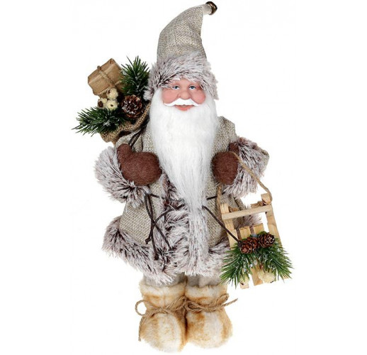 "Декоративная фигура ""Санта с саночками"" 30см, бежевый BD-NY14-509"
