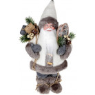 "Декоративная фигура ""Санта в шубке"" 30см, серый BD-NY14-510"